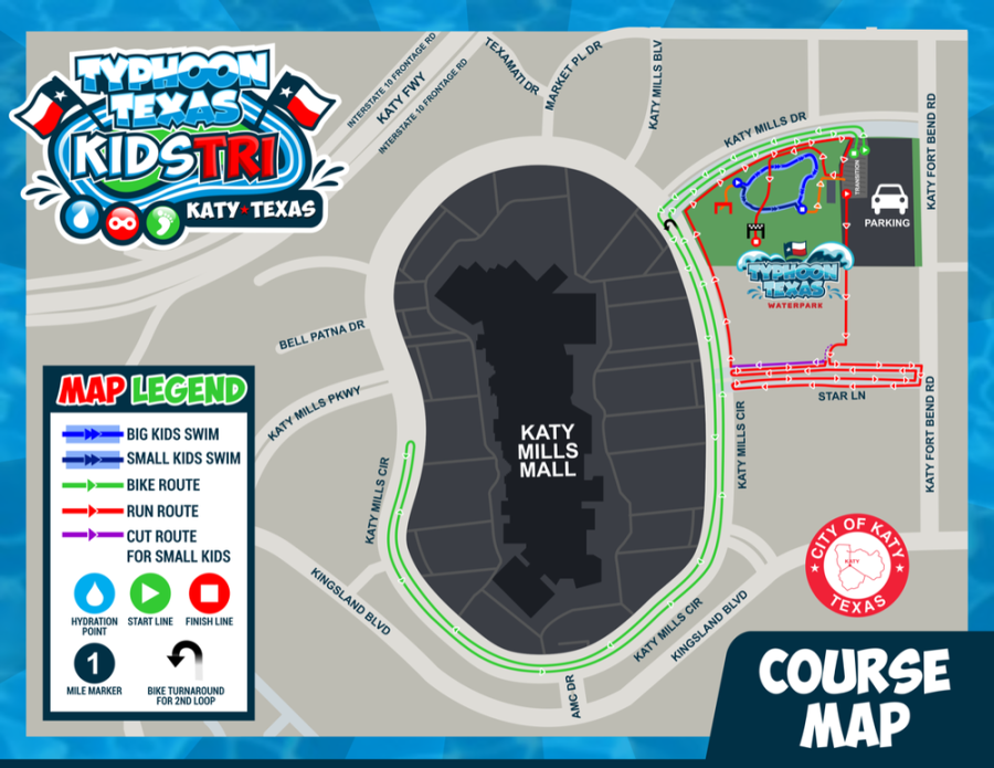 Typhoon Texas Kids Triathlon: Race Course on west oaks mall store map, westfield broward mall store map, lloyd center mall store map, south hills village mall store map, galleria mall store map, melbourne square mall store map,