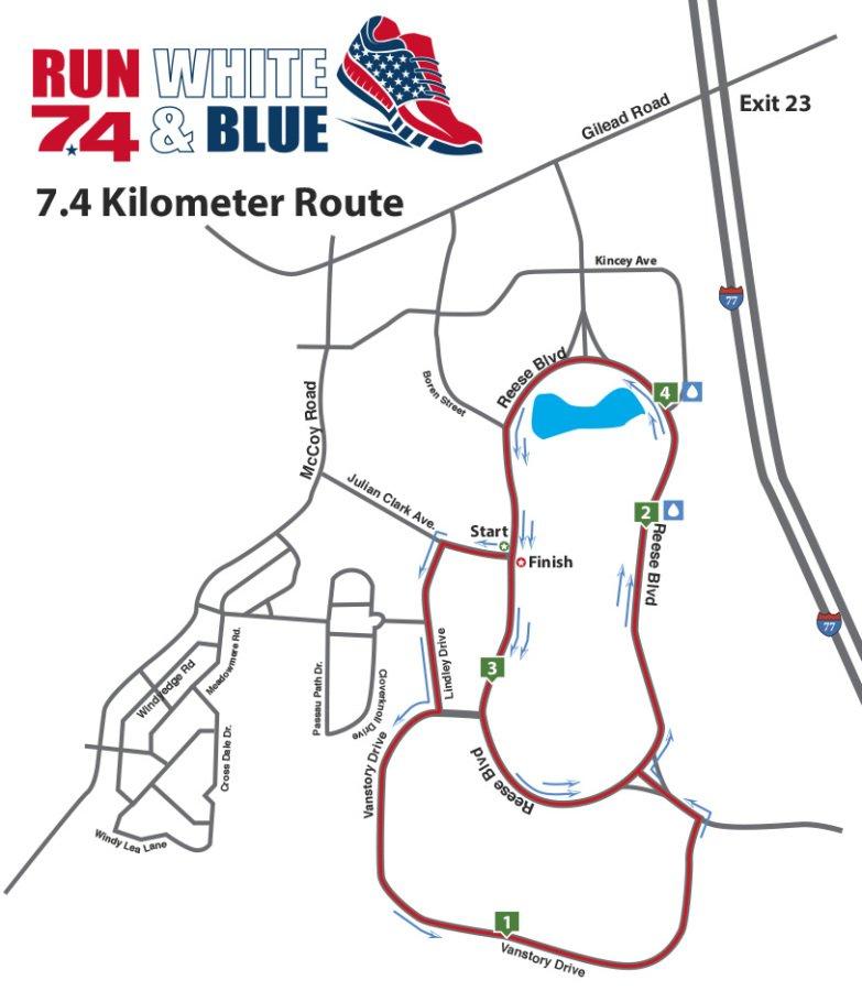 7.4 kilometer map