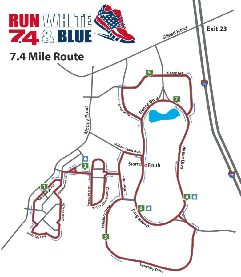 7.4 mile map