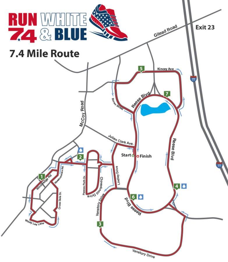 7.4 mile map