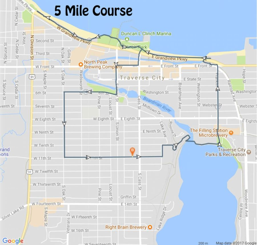 5 Mile Map