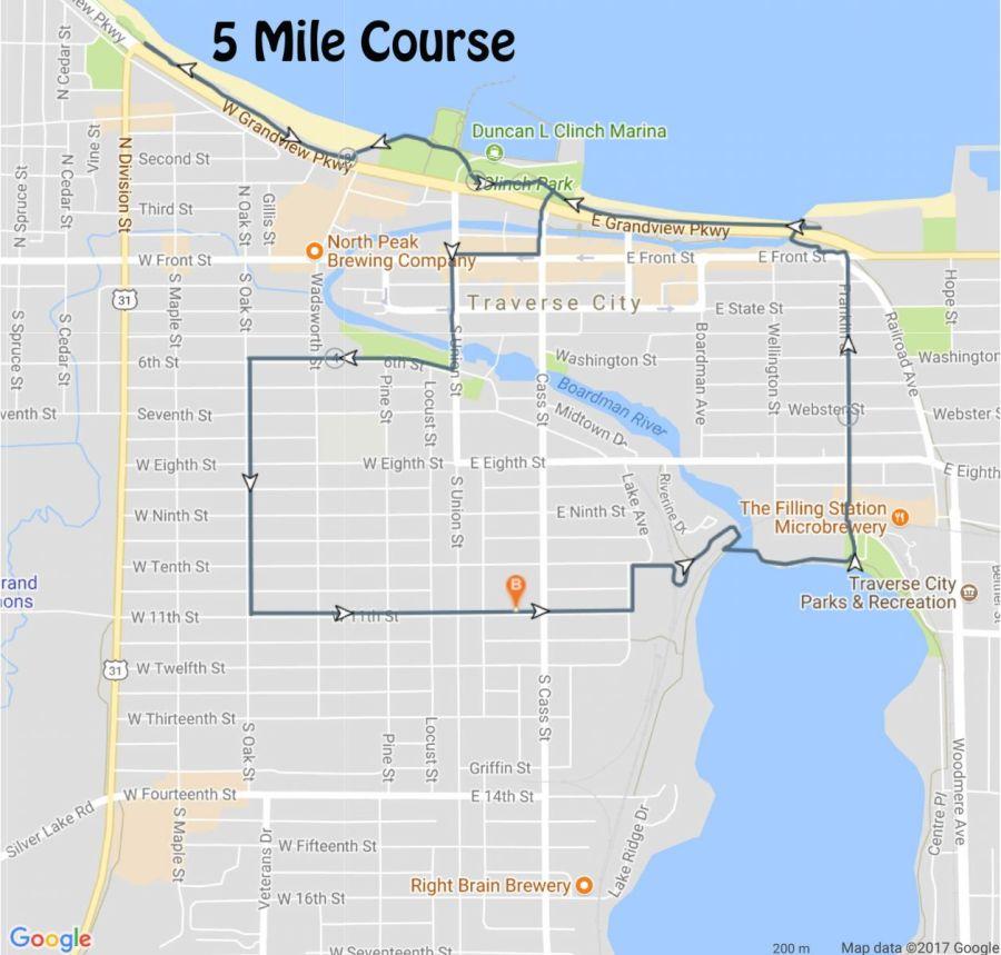 5 Mile Map