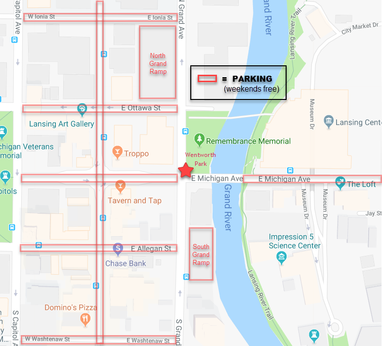 Wentworth Park and nearby parking options
