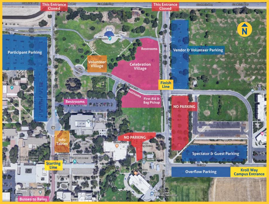 Csu Bakersfield Campus Map.Bakersfield Marathon Half Csub Map
