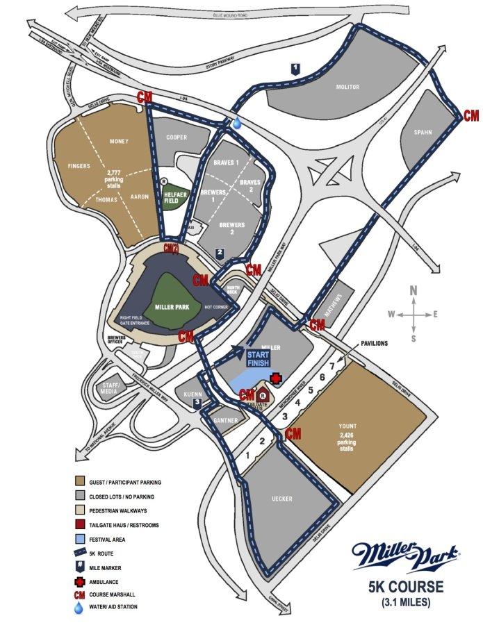 Miller Park route