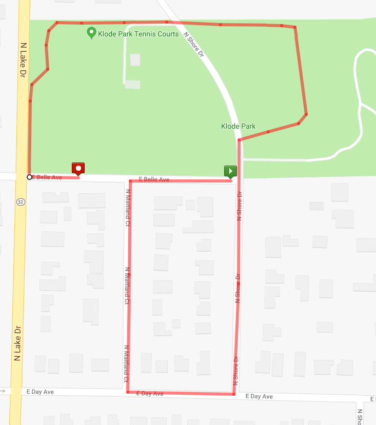 Kids Run Course Map