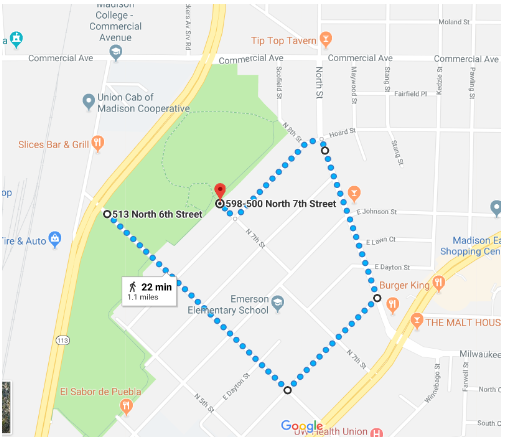 1 mile walk map