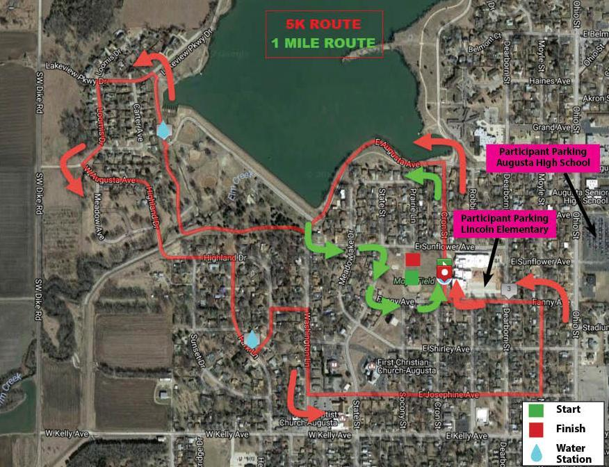 Course Maps with Parking - Rainbows Run
