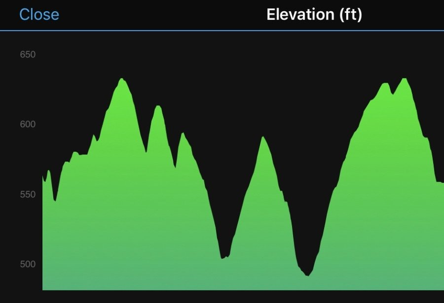 Cammack 5K Course Elevation
