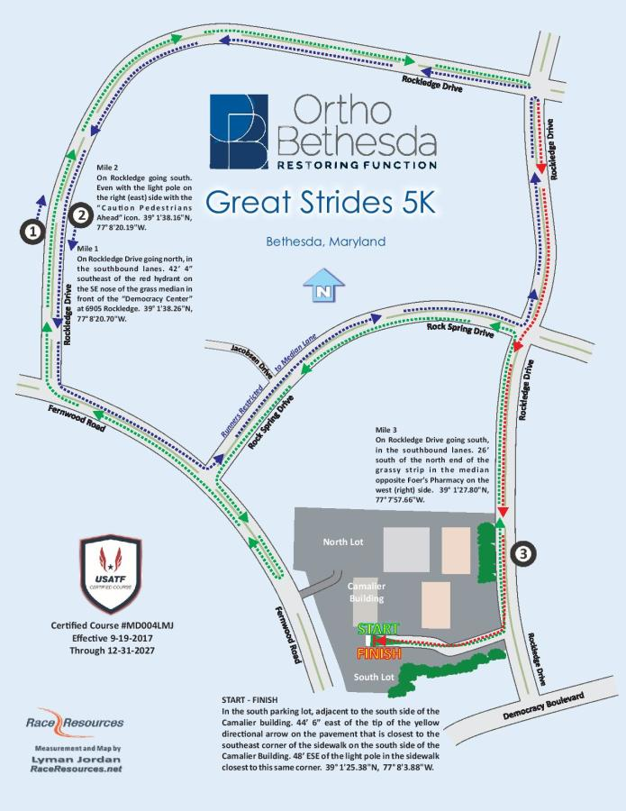 Great Strides 5K Course Map