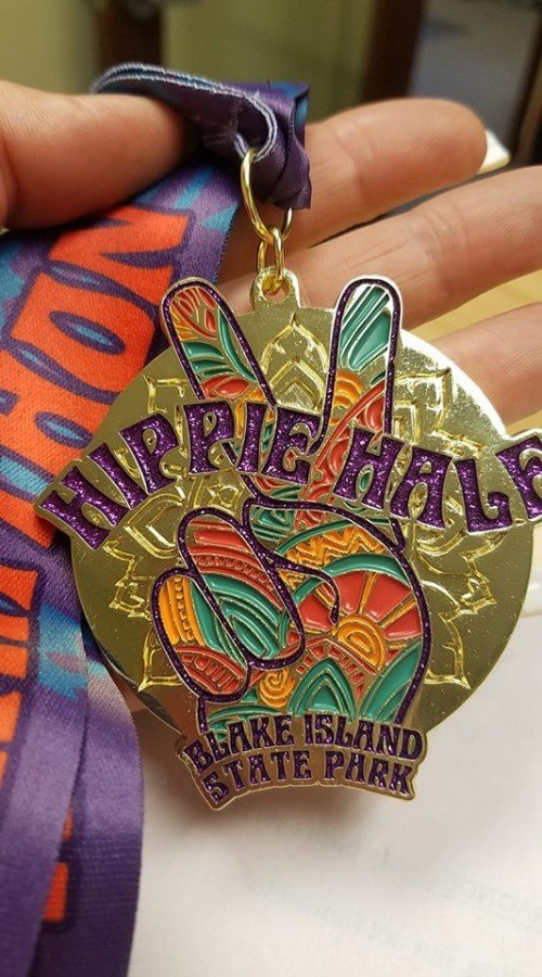 Hippie Half Finisher's Medal