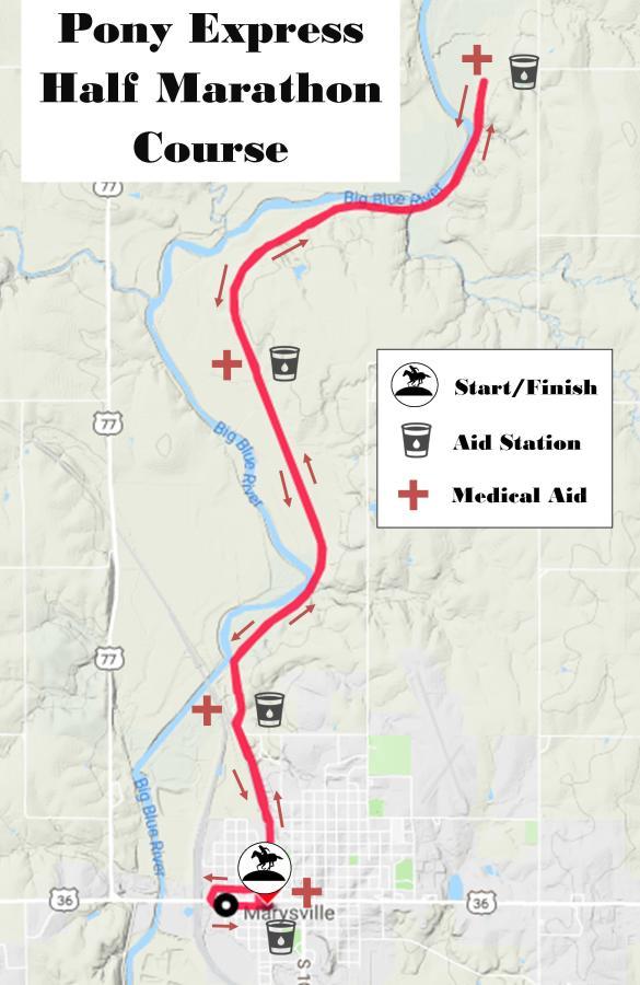 Pony Express Half Marathon & 5K: Course Info