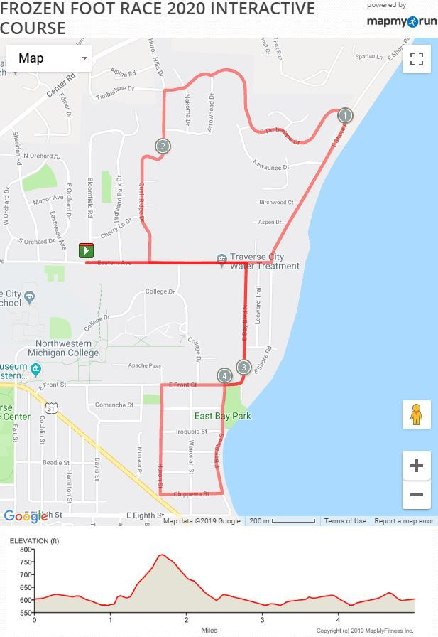 MapMyRun Course Map