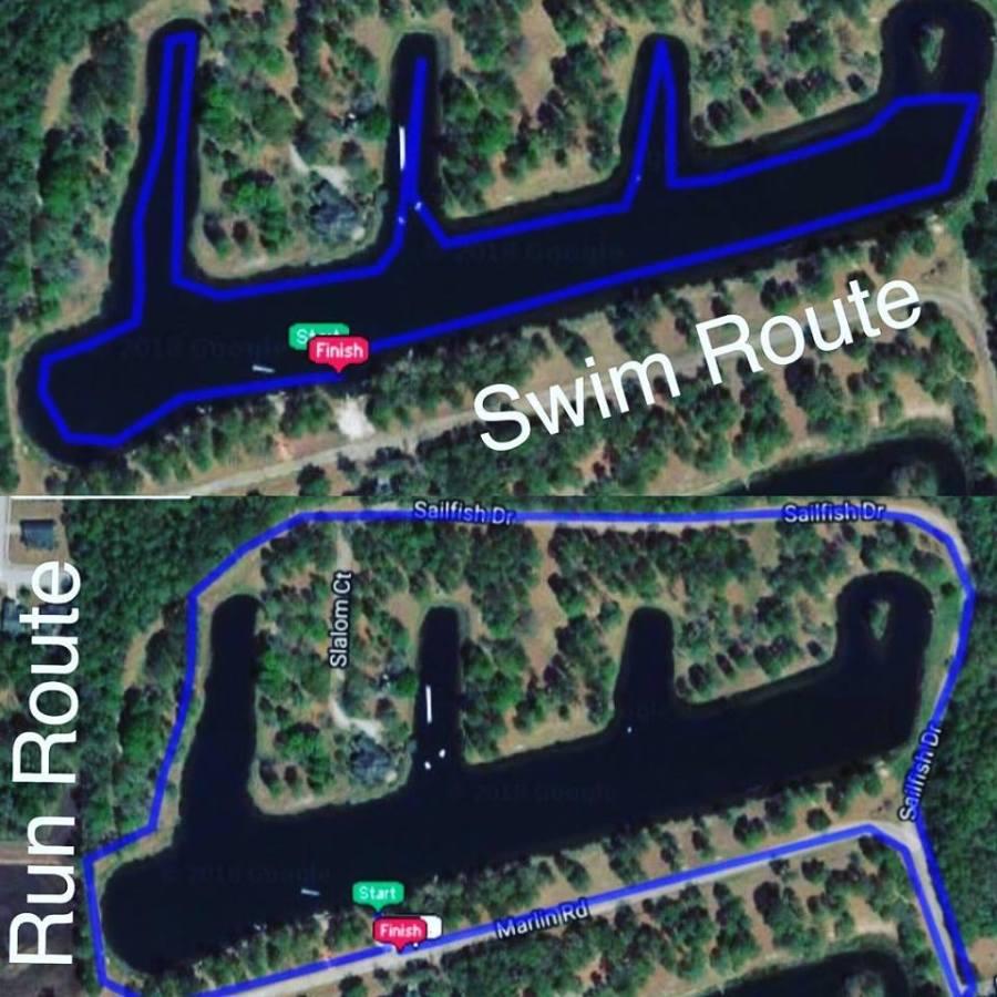 Swim and Run Routes