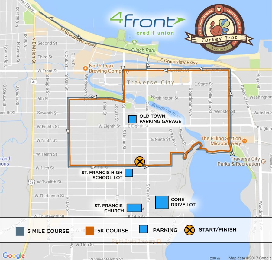 Turkey Trot Map