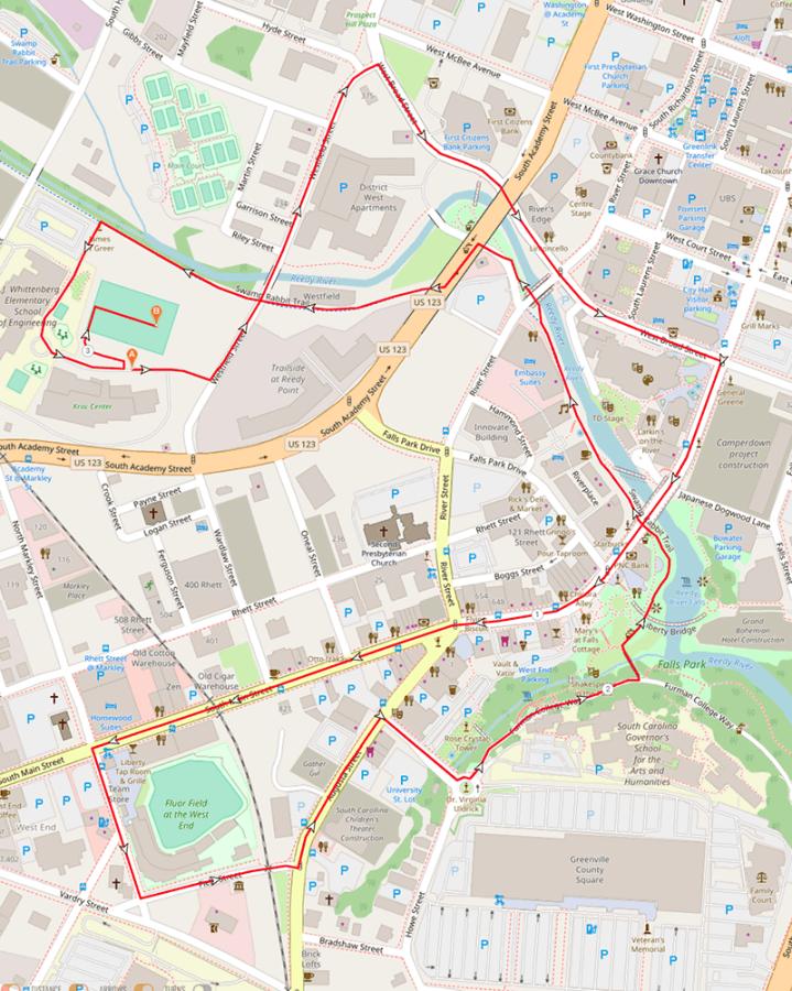 Santa Run Course Map