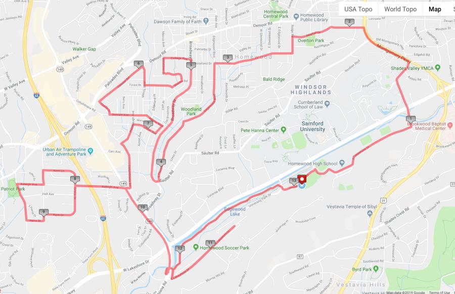Half Marathon Route Map