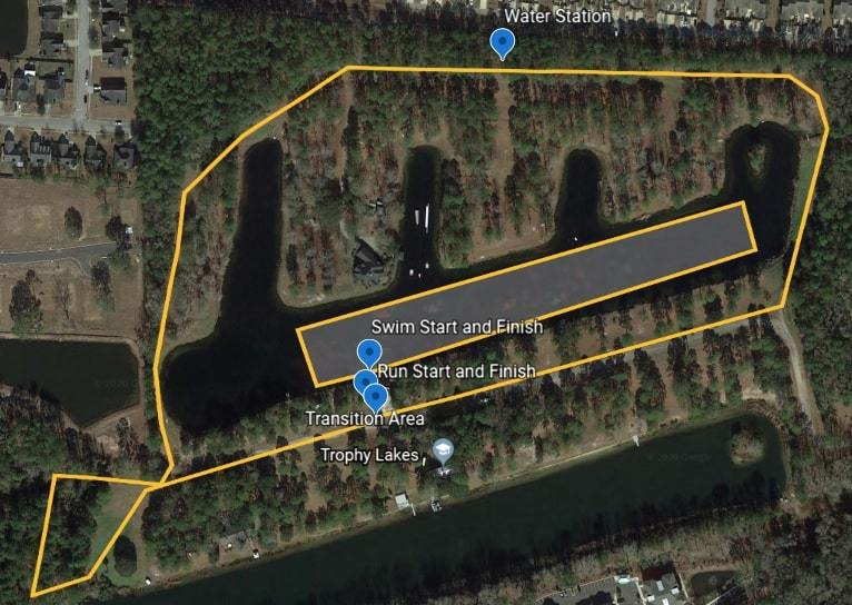 Swim Run Map