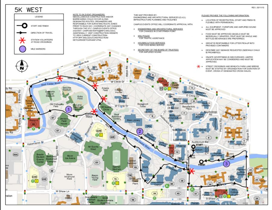 MSU West Course Map