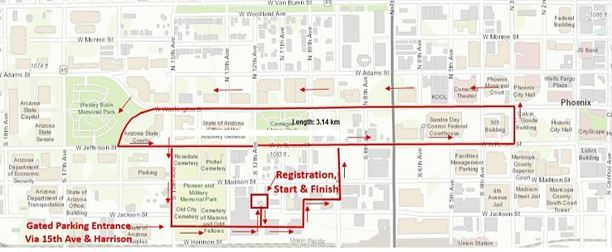 Walk for Awareness Route Map
