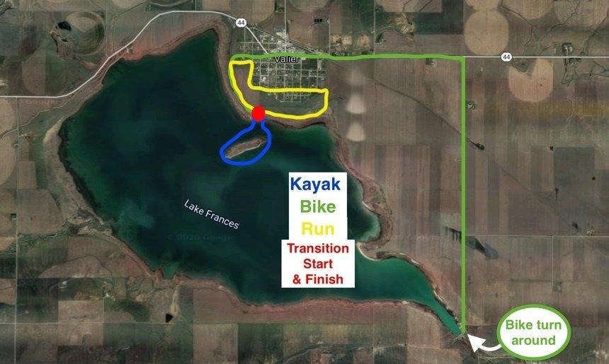 Lake Frances Case Fishing Maps Set 1