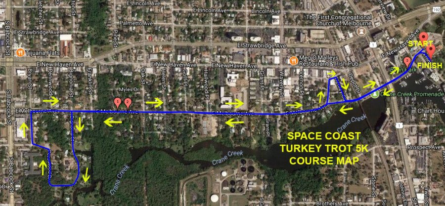5k Course Map