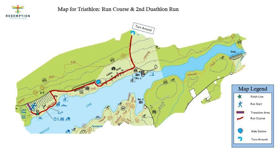 Redemption Duathlon 1st Run Course