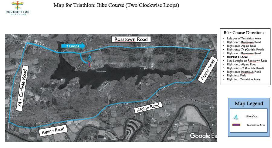 Redemption Triathlon Bike Course