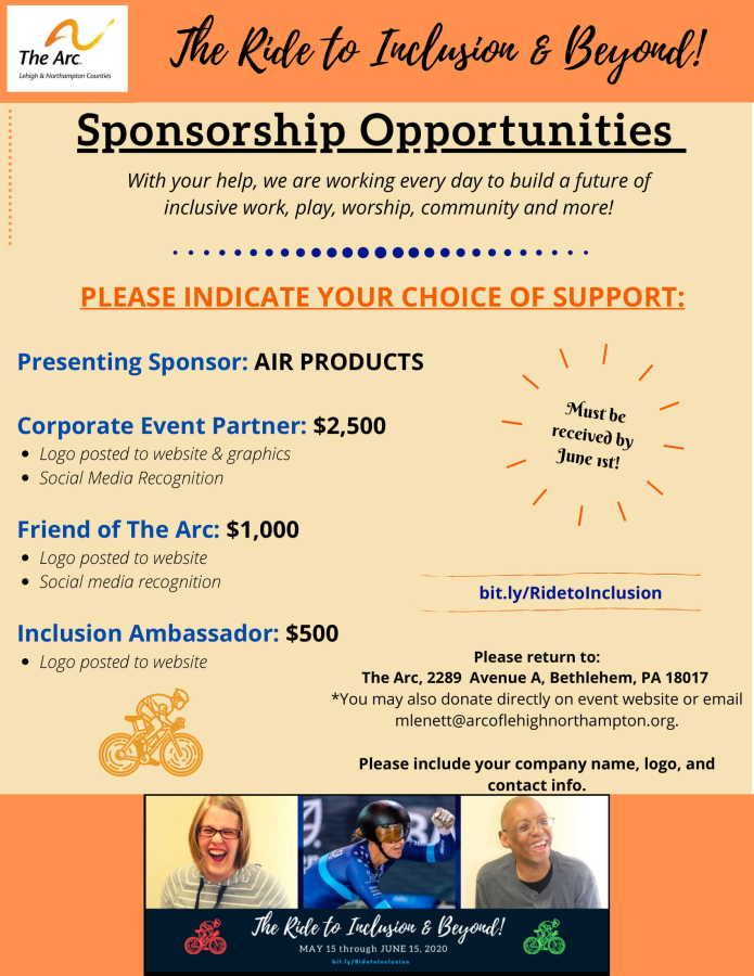 Arc Ride Sponsorship Information