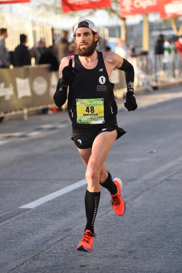Brandon races to a PR and a 6th place finish at the 2020 Gasparilla 15K in Tampa, Florida.