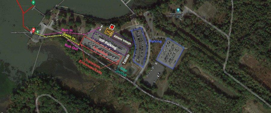 Cal Tri DC Venue Map