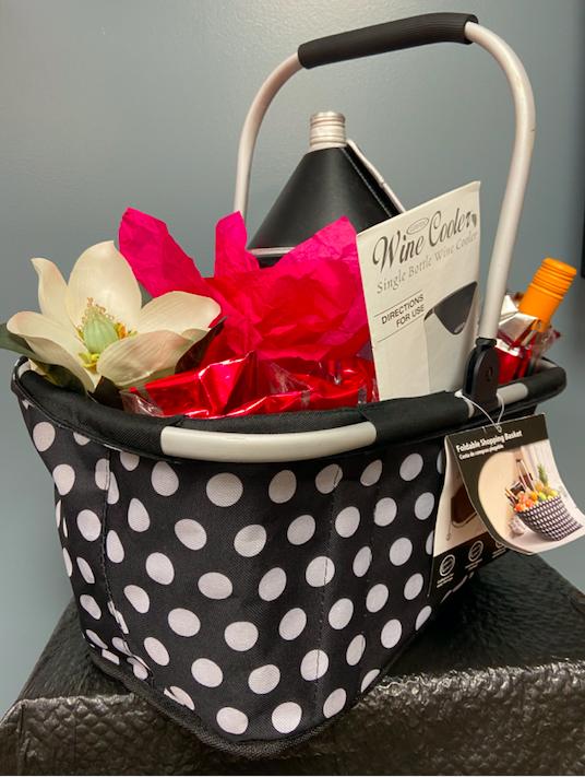 Wine gift basket