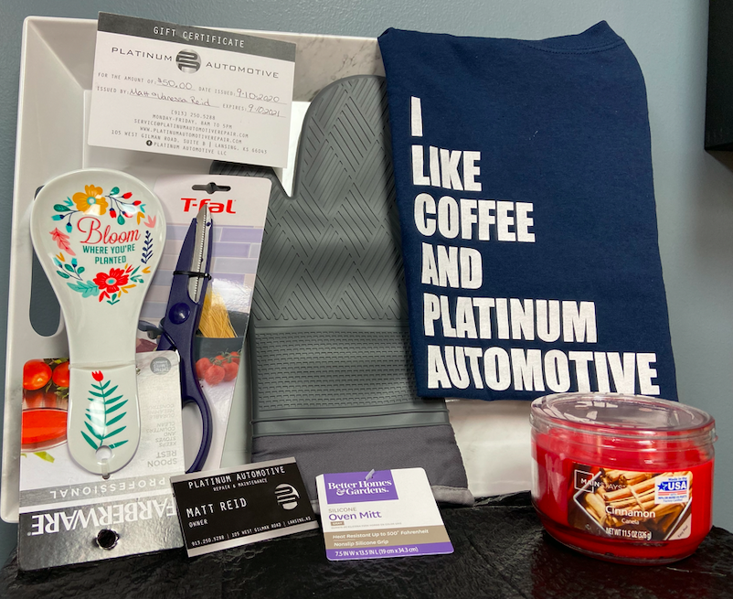 Gift items from Platinum Automotive