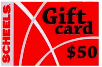 Scheels gift card
