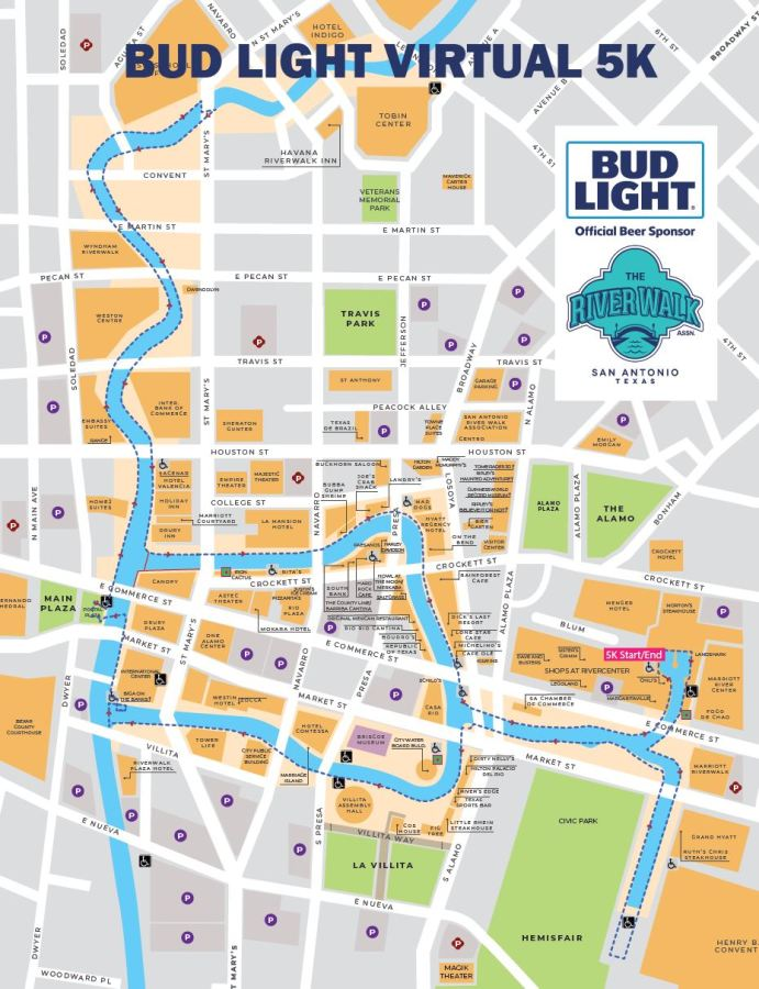 Bud Light Virtual 5K Map