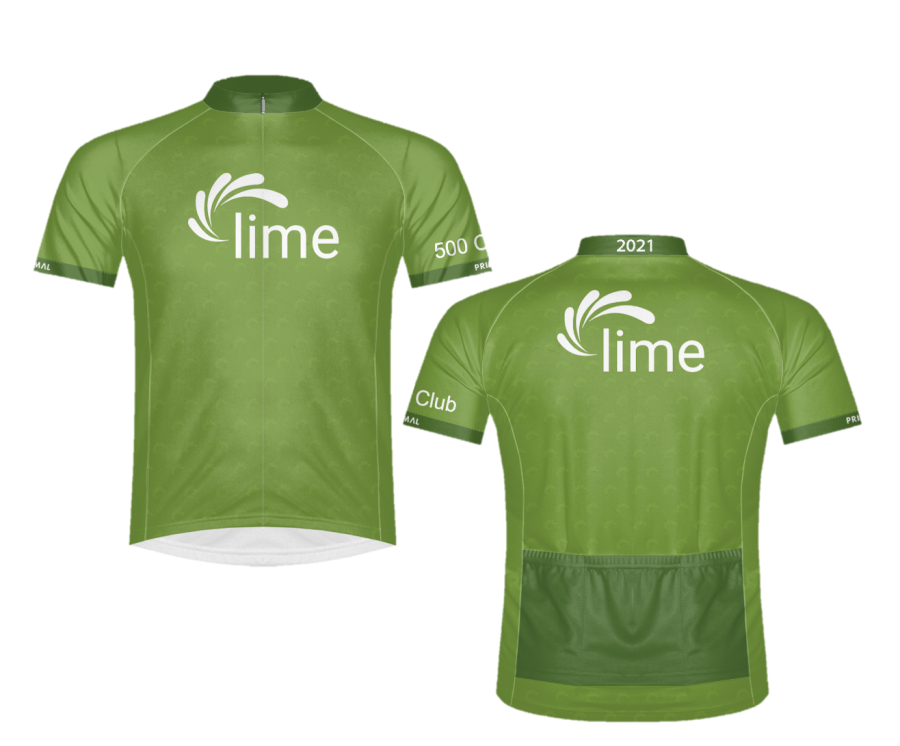 Lime connect Century ride jerseys