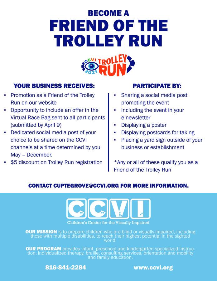 Friend of Trolley Run Benefits