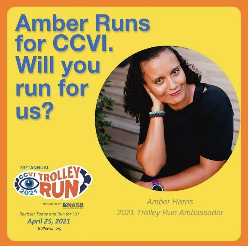 A photo of Amber asking if you will run for CCVI.