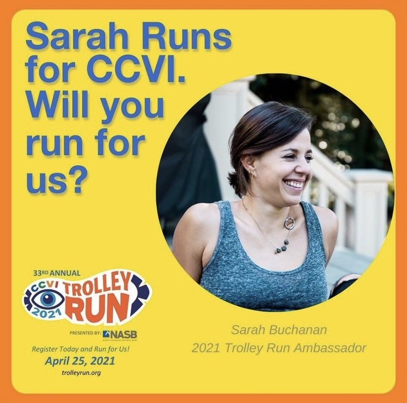 A photo of Sarah asking if you will run for CCVI.