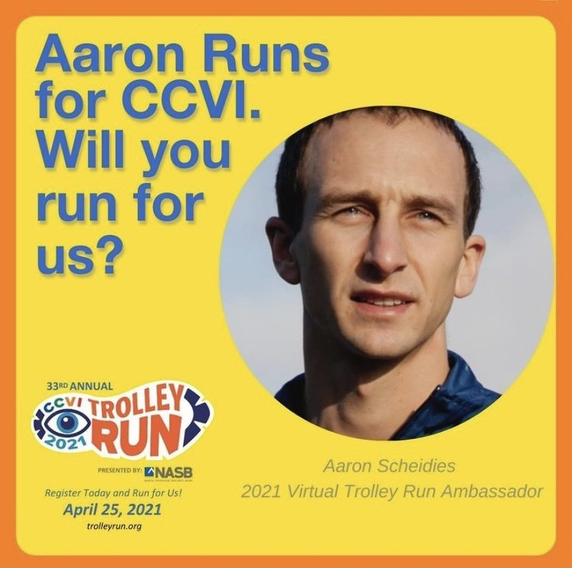 A photo of Aaron asking if you will run for CCVI.