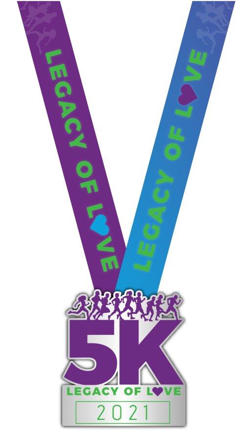 2021 Legacy of Love 5K Finisher Medal