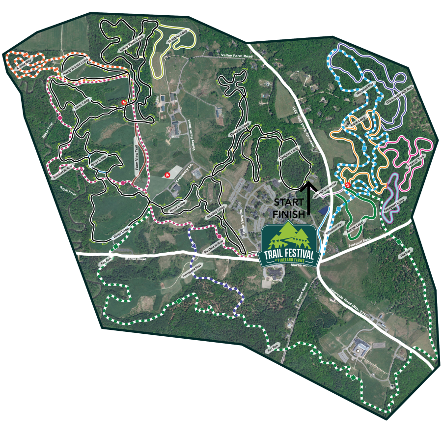 Trail Festival at Pineland Farms 15k Course