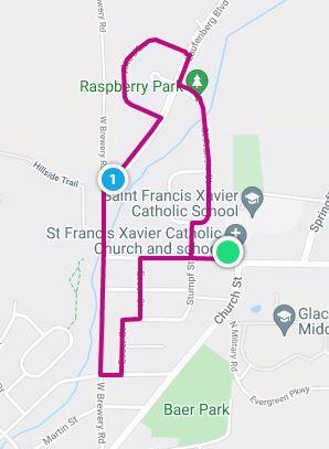 2 Mile Walk Route
