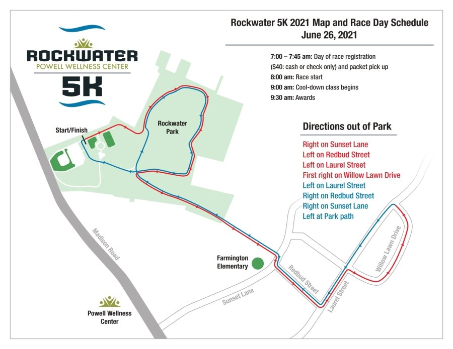 Rockwater 5K course map