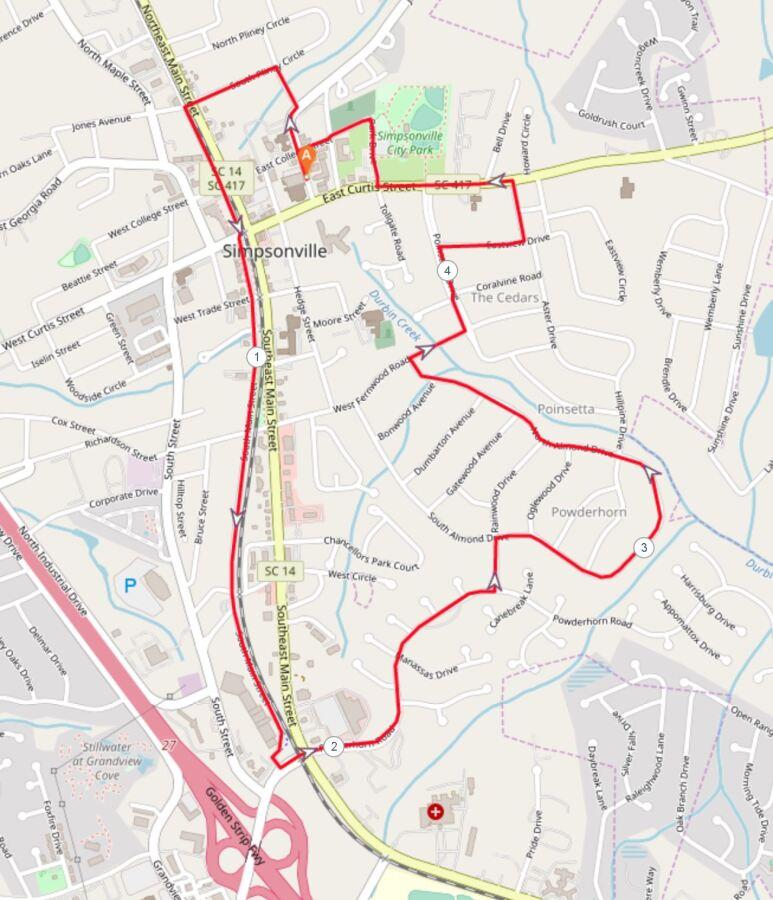 Sunrise Run 8K Course Map