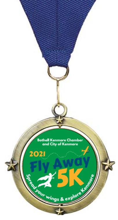Fly Away 5K Medal 2021