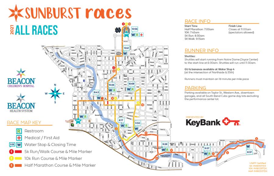 2021 Sunburst Races All-Course Map