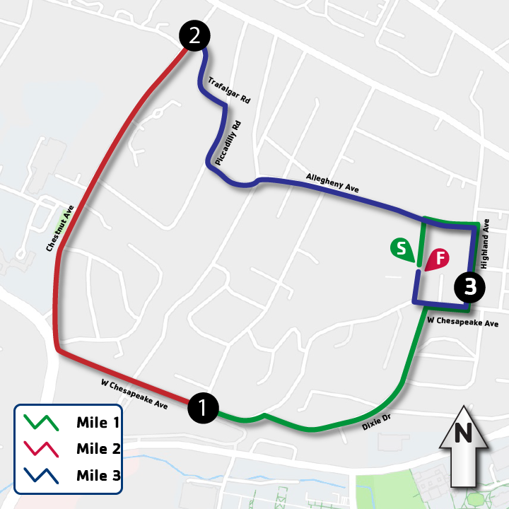 Towson Race Map