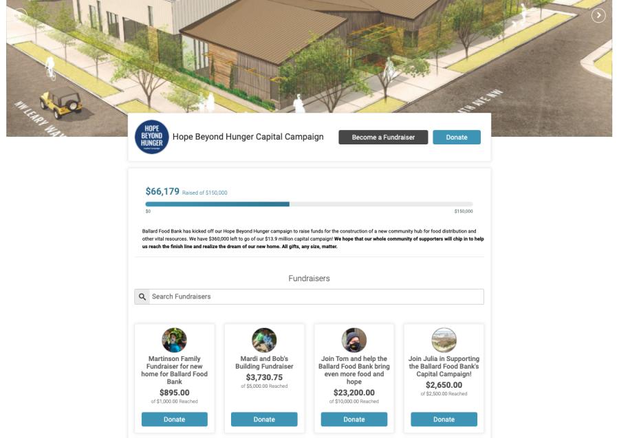 Hope Beyond Hunger Capital Campaign Screenshot