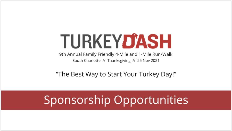 Turkey Dash 2021 Sponsor Deck